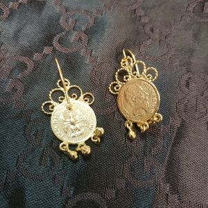 Vintage Rare Earrings - gold plated